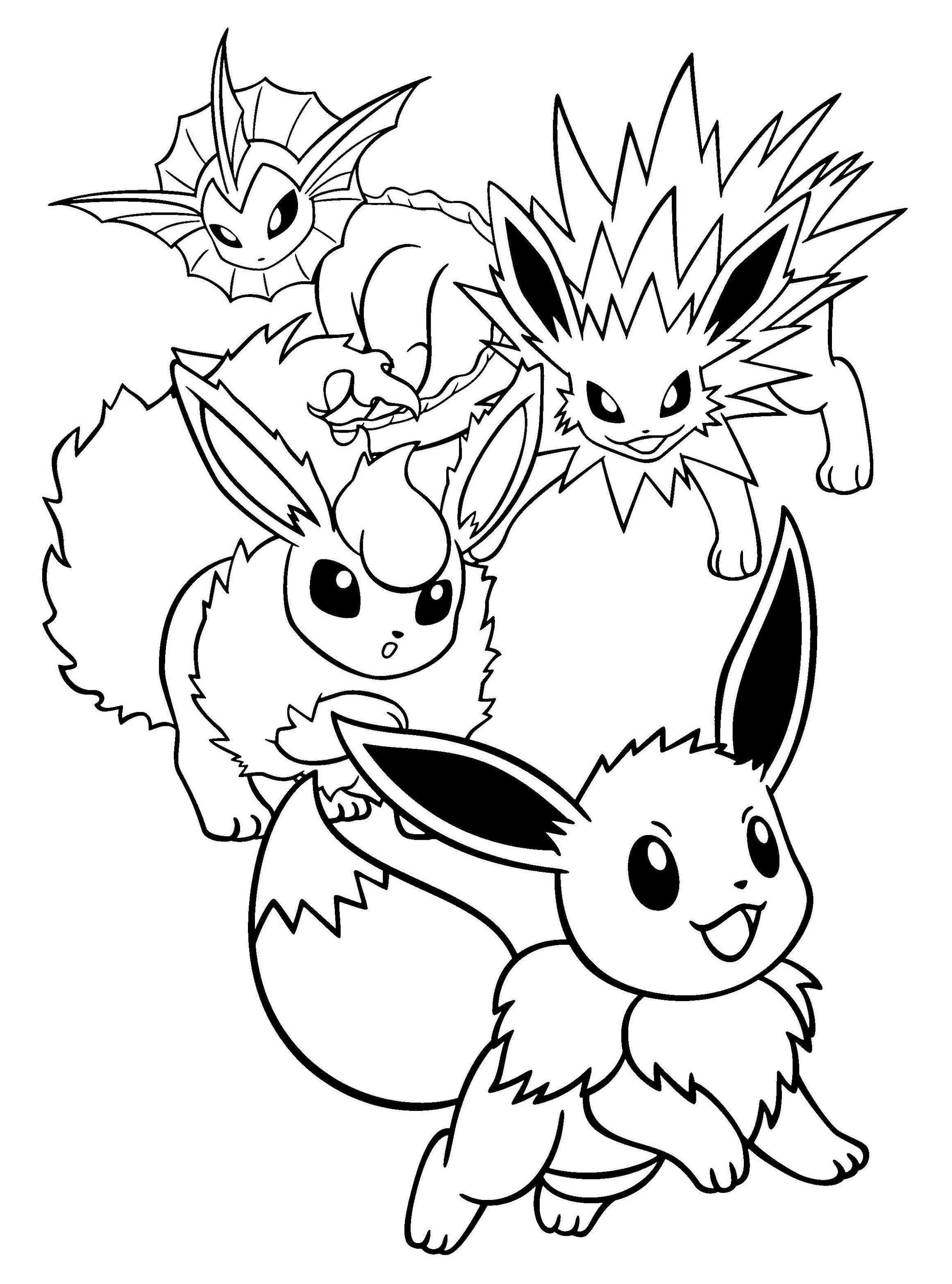 Pokemon All Eevee Evolutions Coloring Pages In 2020 Pikachu Coloring Page Pokemon Coloring Pages Pokemon Coloring