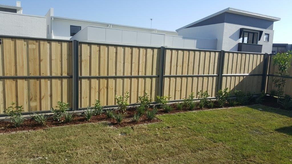 Image result for timber fencing capped and lapped in 2019