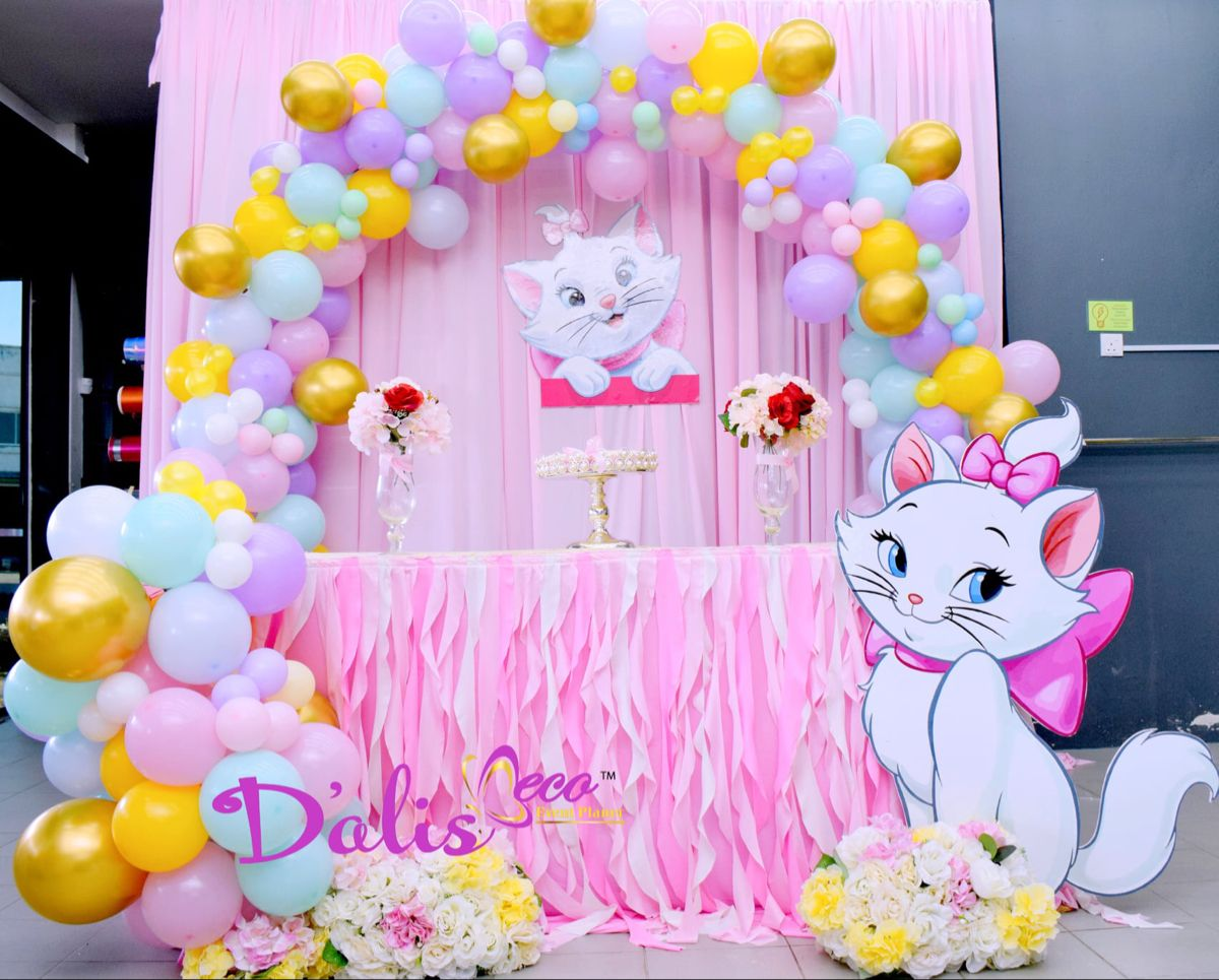 Aristocat Kucing Candy Buffet Birthday Party Toddler Birthday Party Themes Aristocats Party