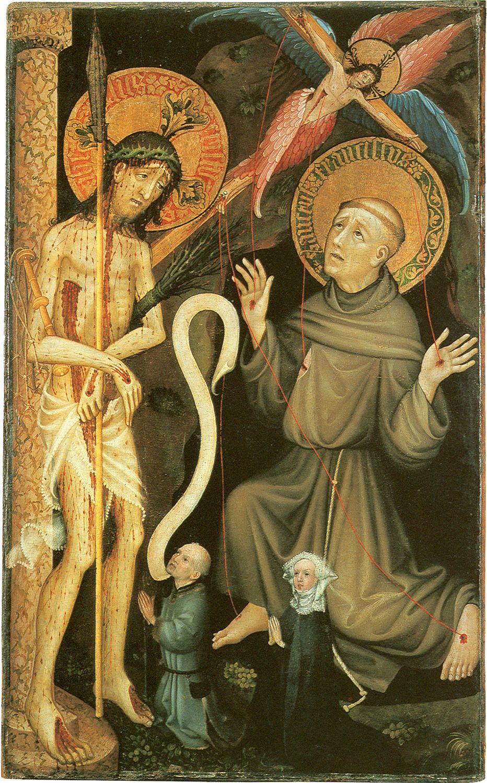 Stefan Lochner - Christ as Man of Sorrow. 1451