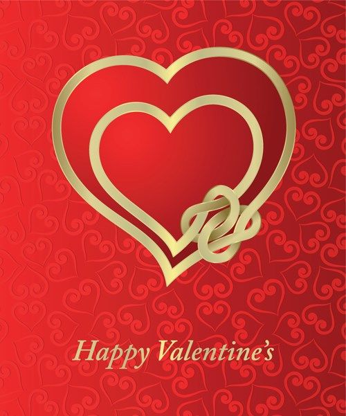 Valentine Card Vector Art 04 For Free Download With Images