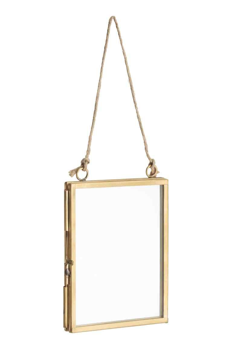 Metalowa ramka na zdjęcie: Ramka z czystego szkła i metalu zamykana ...