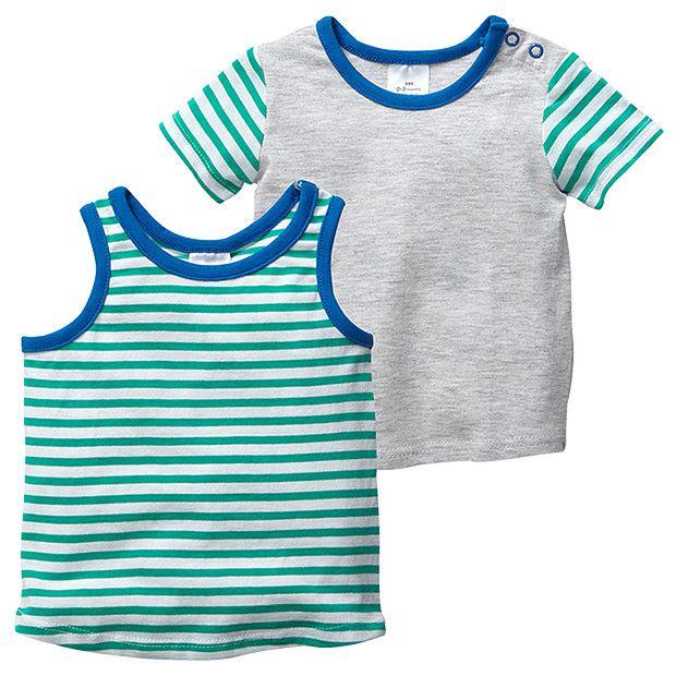 Boys' 2 Piece Stripe Tank and T-Shirt Set | Target Australia