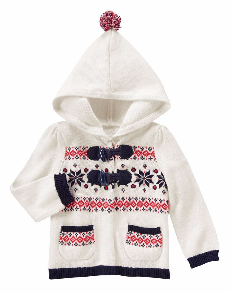 Gymboree HOLIDAY SHOP Girls Fair Isle Hooded Toggle Cardigan ...