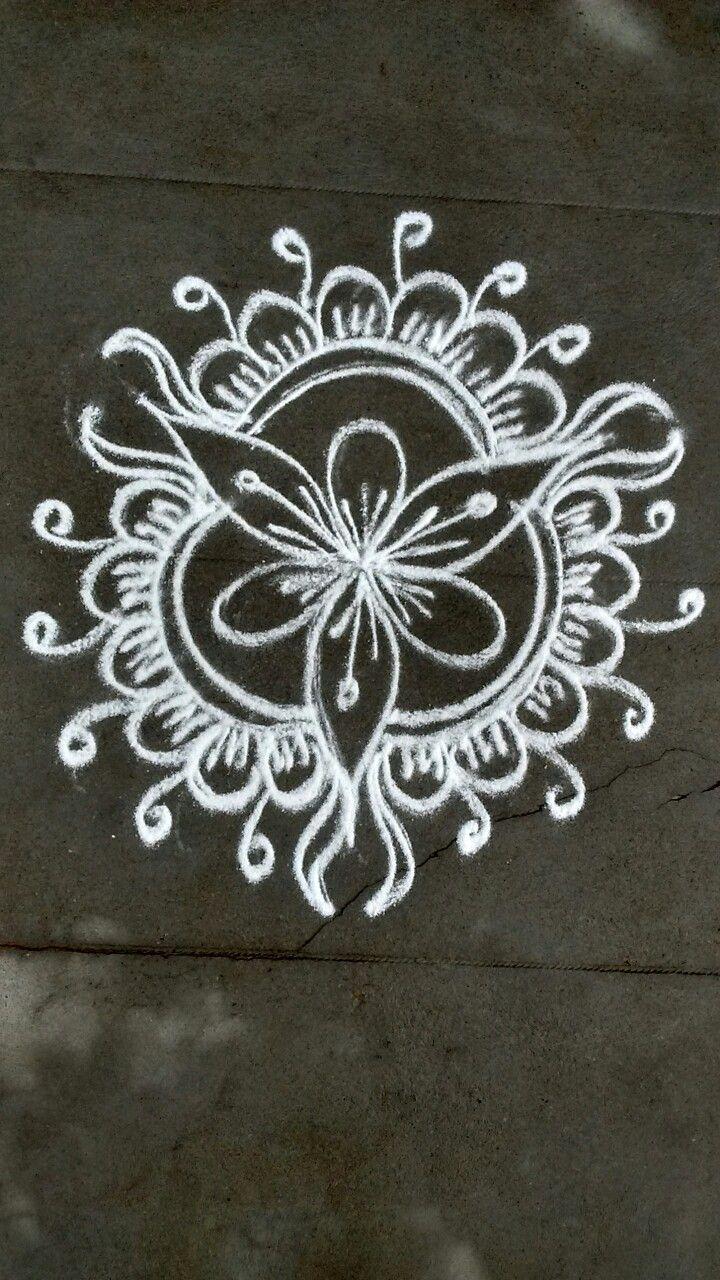 Free hand rangoli design image by VENNILA