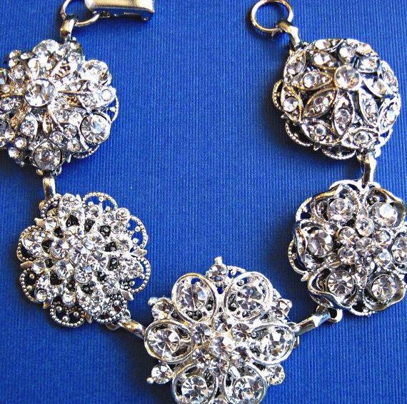 Wedding Bracelet,Bridal Jewelry,Vintage Style, Wedding Jewelry
