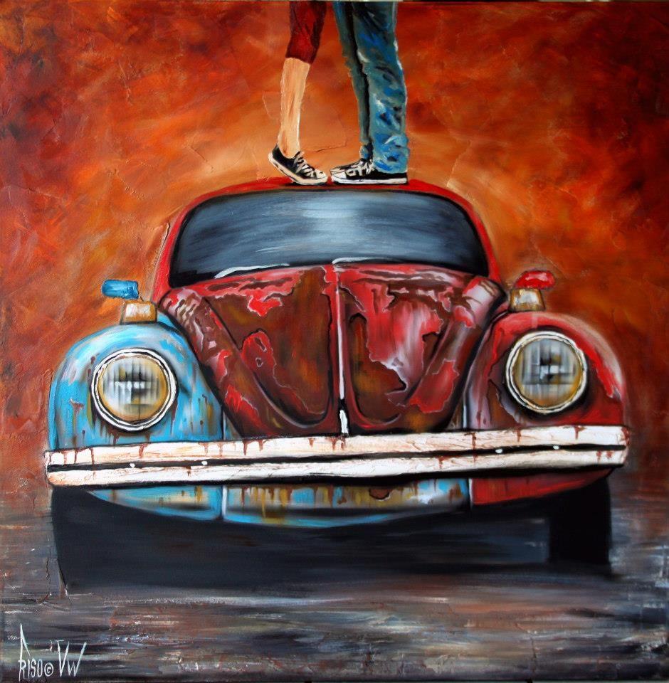 Pin By Romy Preis On Quadro Vw Art Beetle Art Car Painting