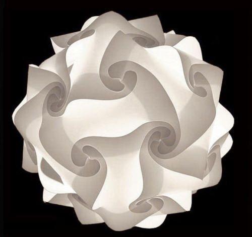 Modern Iq Light Jigsaw Lamp Puzzle Lamp Zelight White With Real Ikea Hemma Cord Hanging Pendant Lamp Diy Lamp Shade Hanging Lamp