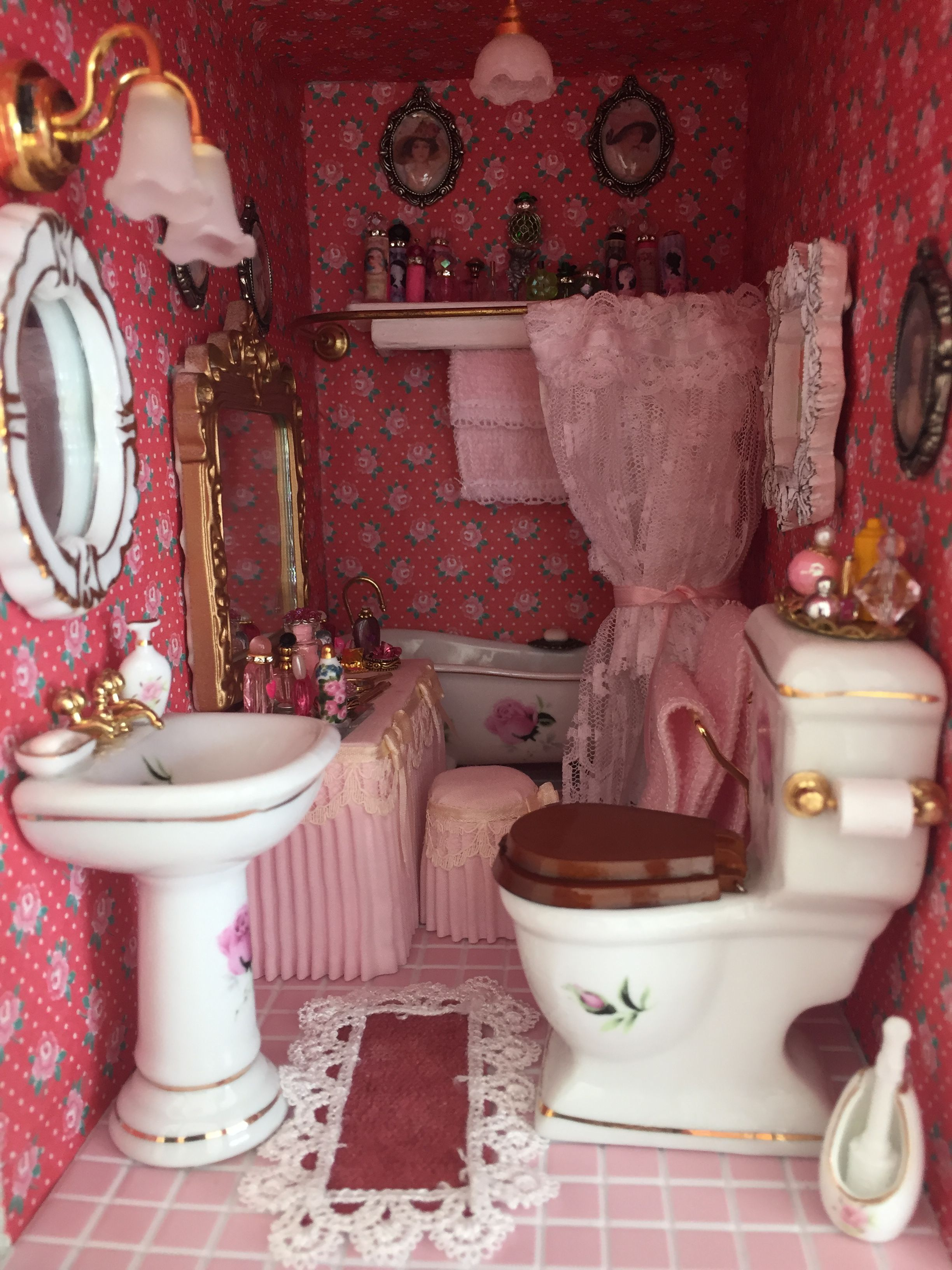 My Victorian Dollhouse Bathroom #victoriandollhouse