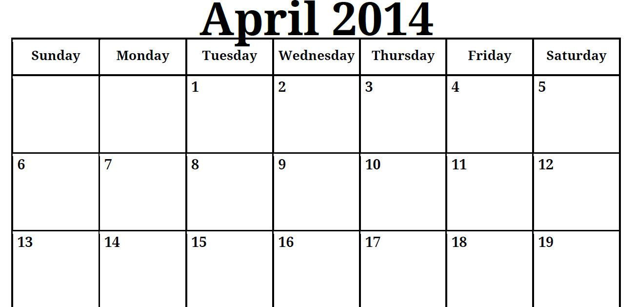 Calendar Girl April Pdf : Calendar printable blank pdf april
