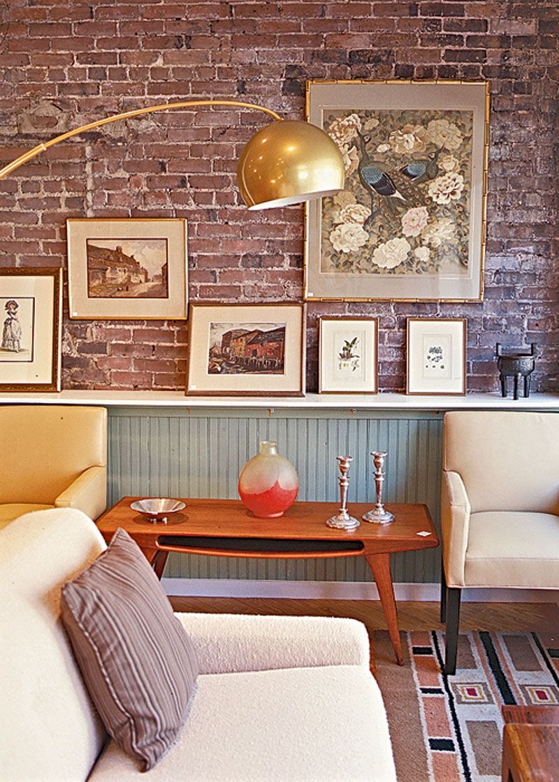 Love The Brick Arco Lamp Amp Wainscoting Home Decor