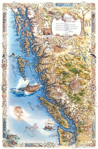 Pacific Northwest Inside Page Map | PNW | National parks ... on