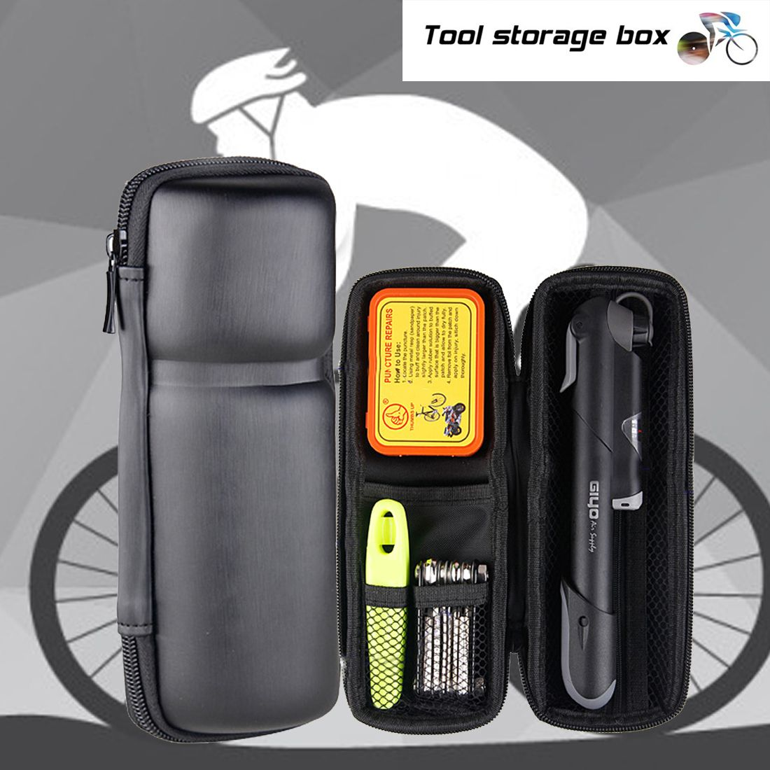 Making A Bicycle Saddle Tool Roll Bike Accessories Diy Tool