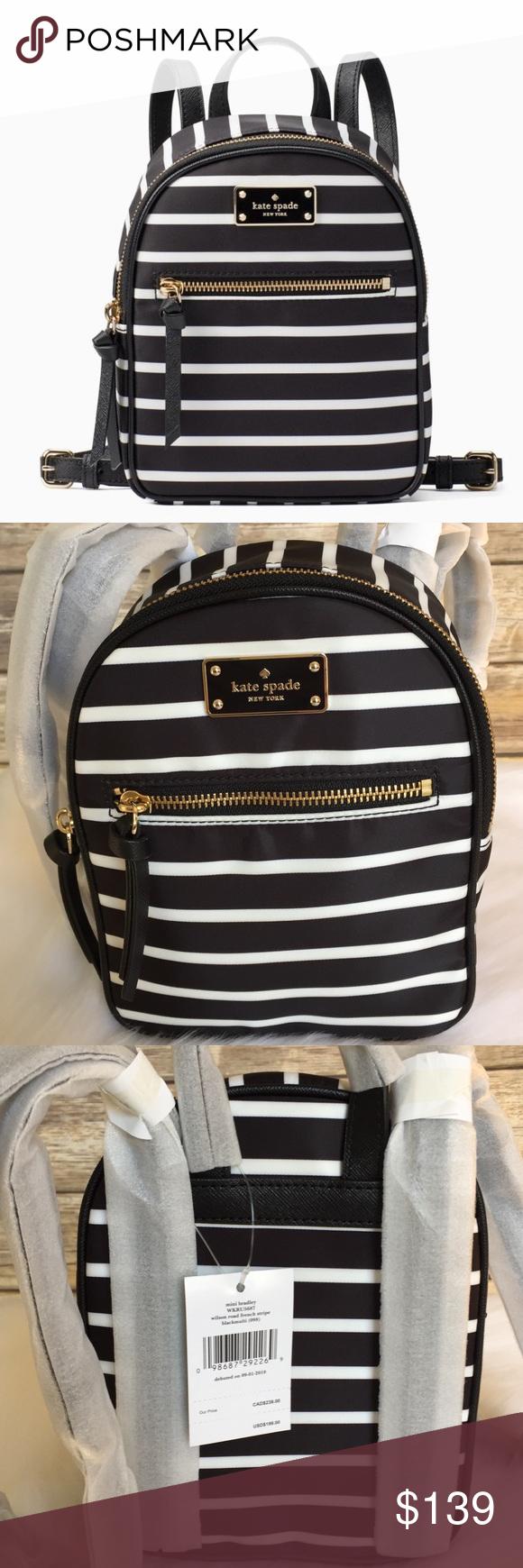 2388ba79f9e3 Kate spade MINI Bradley Wilson stripe backpack bag New with tag   authentic  guaranteed! 100% Authentic Kate Spade! Buy with confidence!
