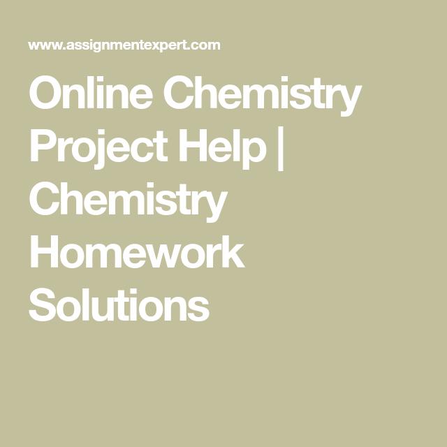 chemistry online homework