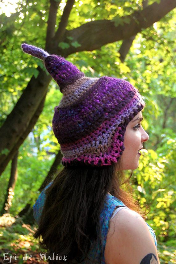 Violet pointy hat, elfin, elf hat, fairy fantasy, peru, peruvian hat ...