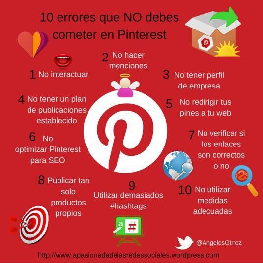 10 errores que no debes cometer en #Pinterest http://bit.ly/1FlItuk vía @AngelesGtrrez