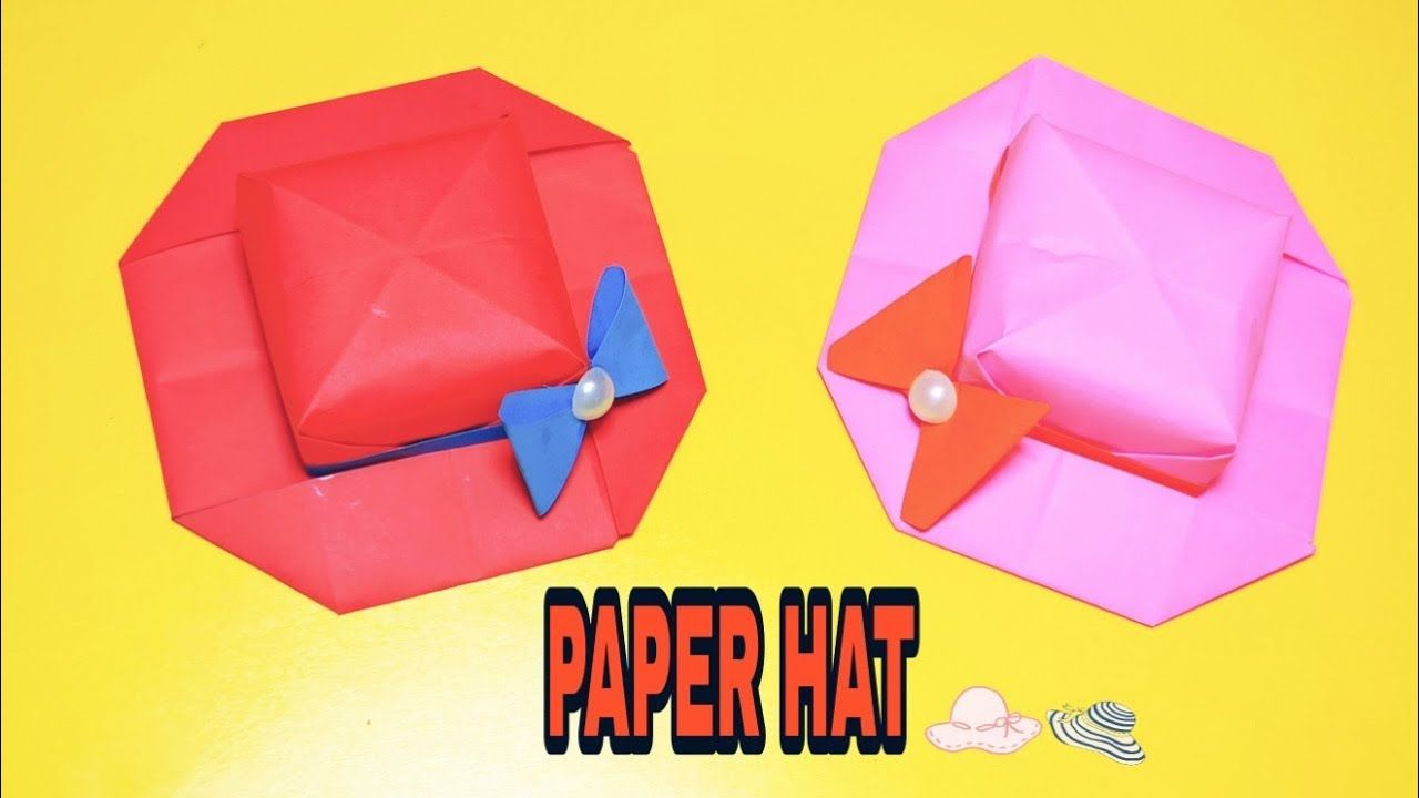 How To Make Paper Hat For Girls I Paper Hat Making I Paper Hat Craft Ide In 2020 Hat Crafts How To Make Paper Paper Hat