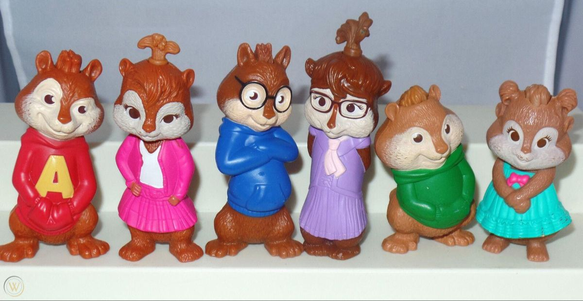 Alvin And The Chipmunks The Squeakquel Mcdonald S Toys In 2020 Christmas Ornaments Alvin And The Chipmunks Novelty Christmas