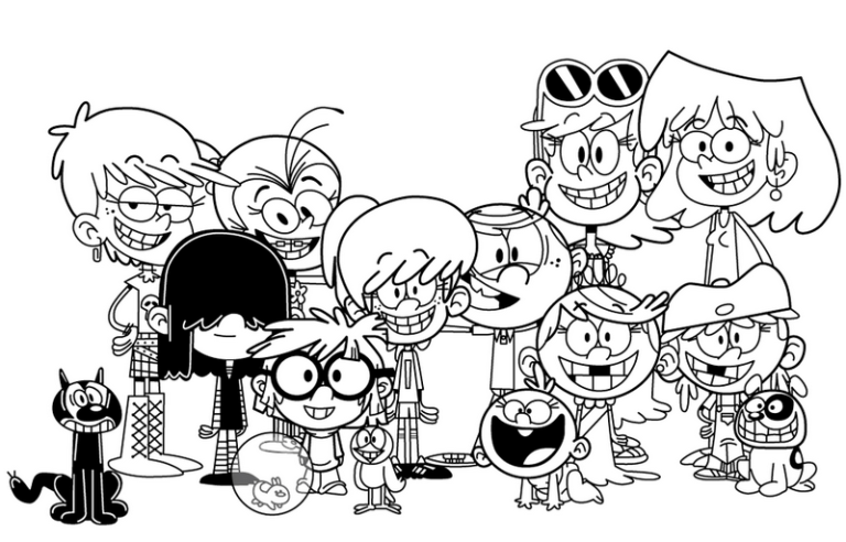 Best Loud House Coloring Page For Little Kids Colorear Princesas Dibujos Para Pintar Dibujos Kawaii