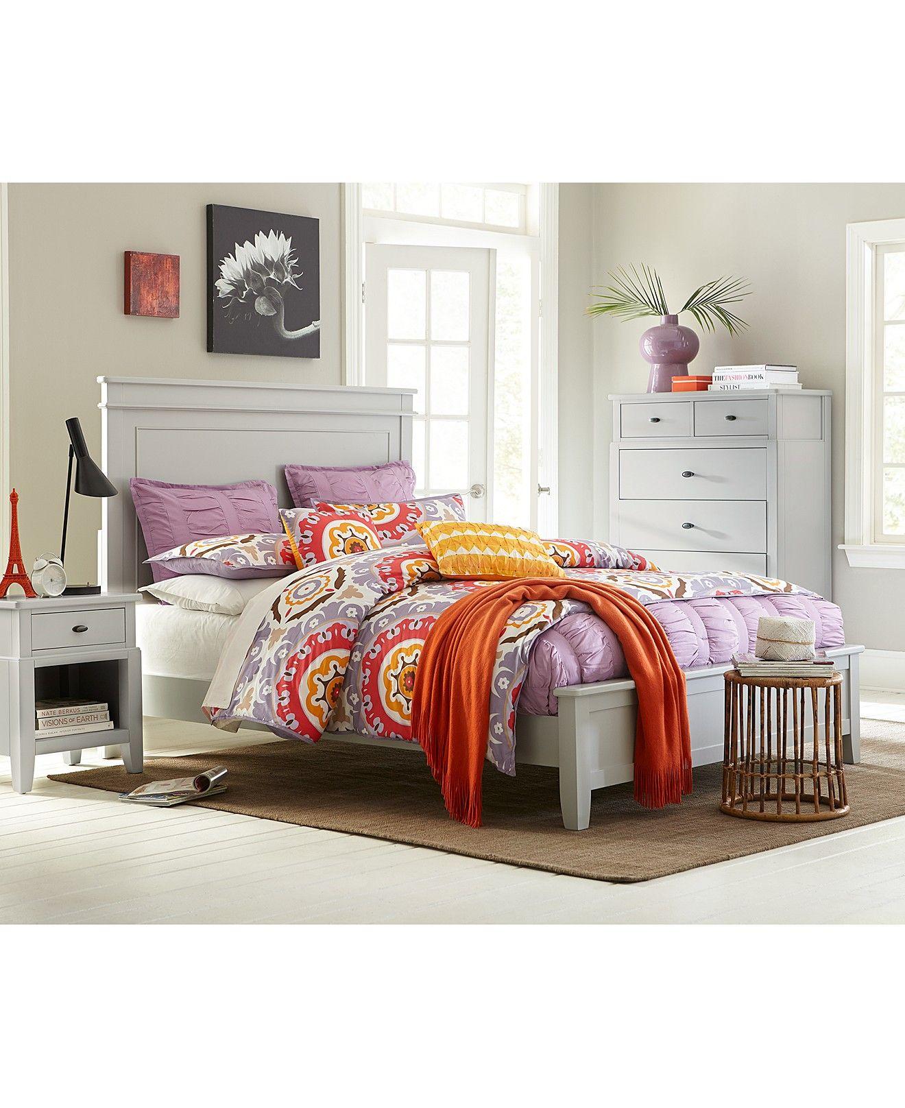 Kamron bedroom queen 3 piece set bed nightstand and - Bedroom furniture set online shopping ...