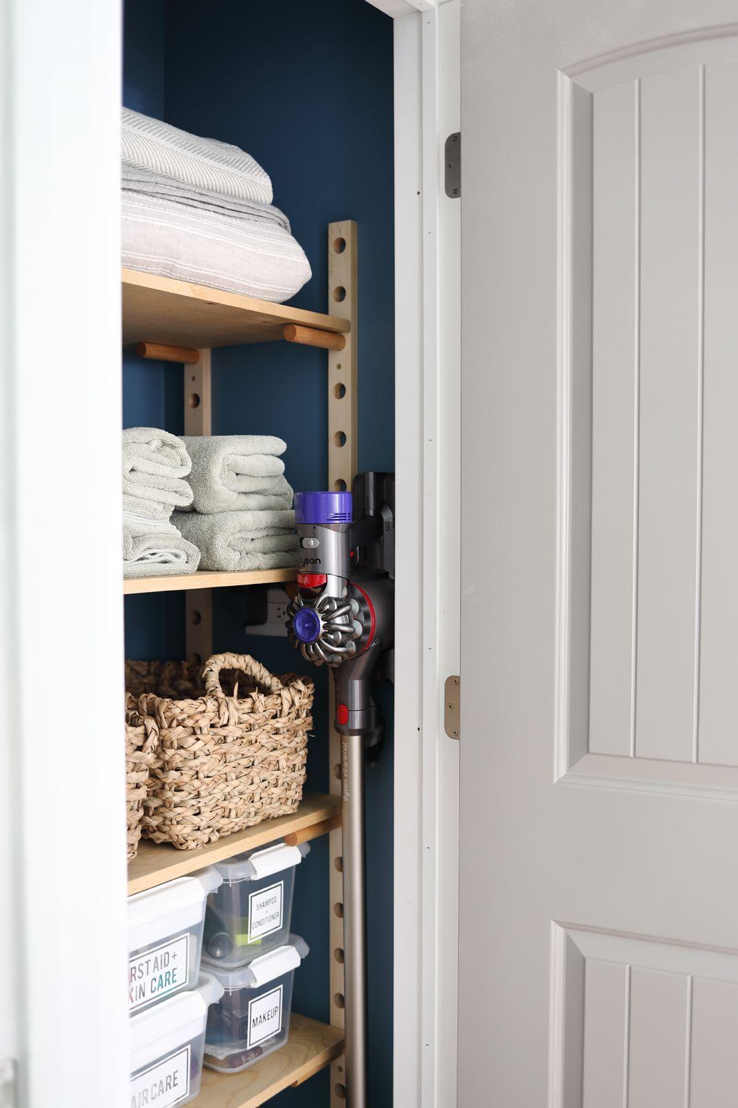 Peg Board Custom Shelving Tutorial Dorsey Designs Adjustable Closet Shelving Custom Shelving Closet Makeover