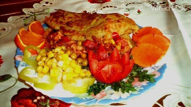 Diabolské soté v zemiakovej placke (fotorecept)