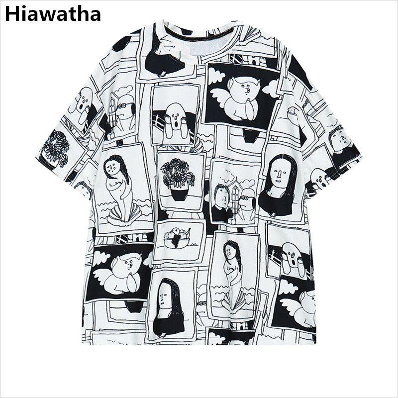 6b69fab40c8 Click to Buy    Hiawatha ComicsT Shirt Women Harajuku Style Character Printed  T.