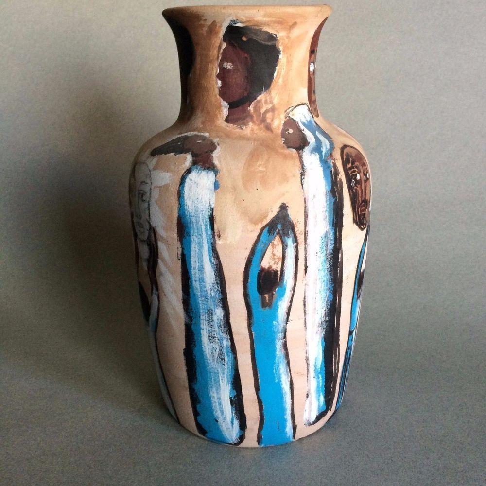 Visionary leon kennedy black american folk painting on vase visionary leon kennedy black american folk painting on vase smithsonian museum reviewsmspy
