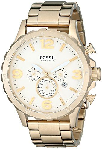 26f17633099 Fossil Mens JR1479 Nate Chronograph Stainless Steel Watch GoldTone     Be  sure to check out this awesome product.
