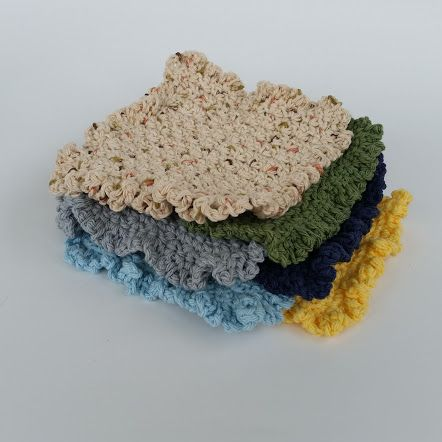 Ruffle Washcloth Free Crochet Pattern Ruffles Yarns And Crochet