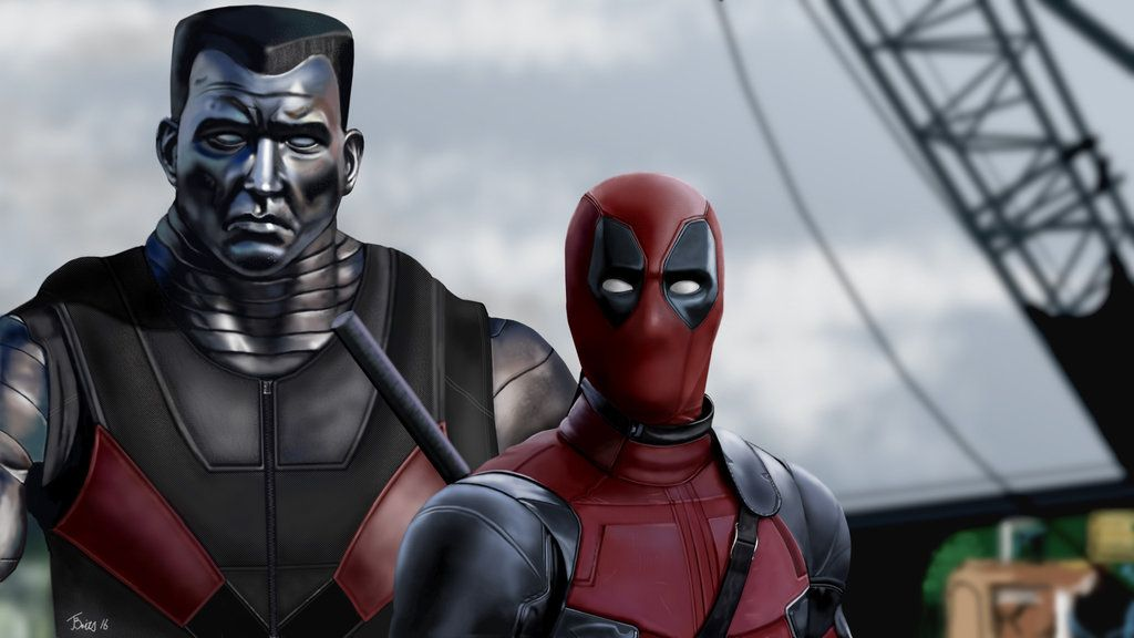#Deadpool #Fan #Art. (Deadpool and Colossus GIMP Drawing) By: Britsie1. (THE * 5 * STÅR * ÅWARD * OF: * AW YEAH, IT'S MAJOR ÅWESOMENESS!!!™)™ ÅÅÅ+ 6. 1