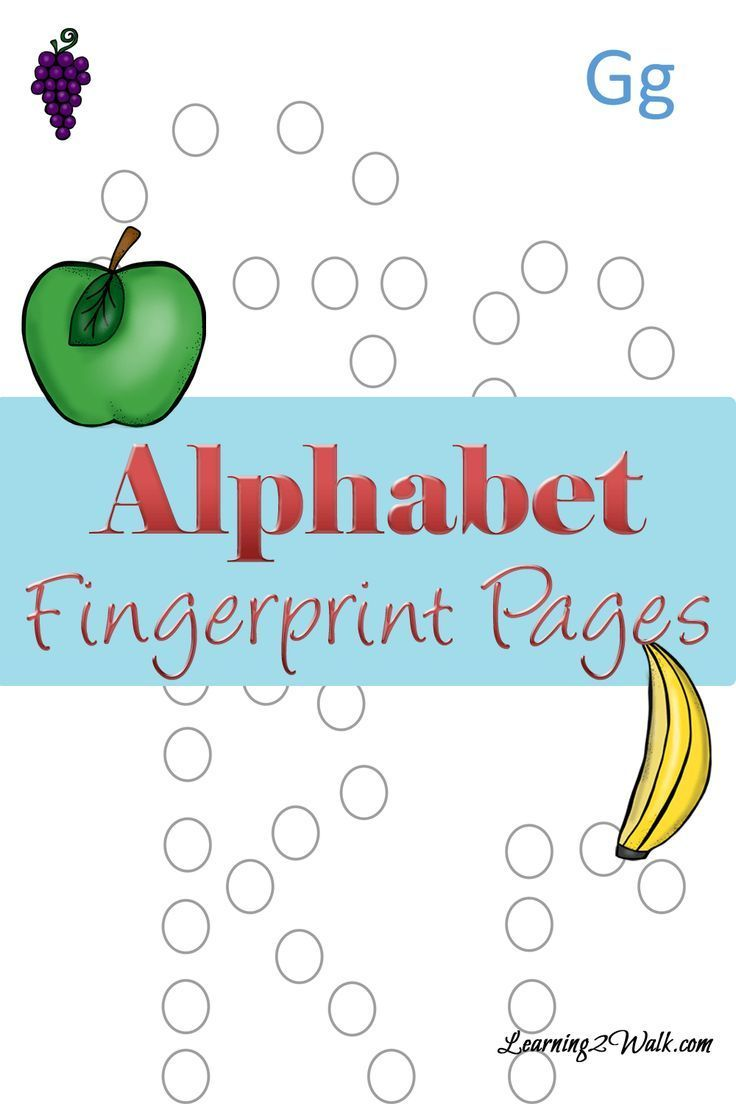 Preschool Letter Activities: Fingerprint Letter Pages | Letter ...