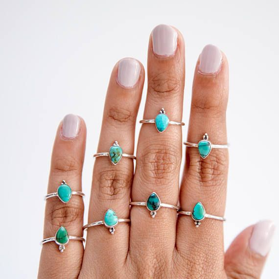 Sterling Copper Turquoise Ring,Lime Green Stone ring,Handcrafted Ring,Women Ring,Boho ring,Promise Ring,dual gemstone ring,hamatite ring