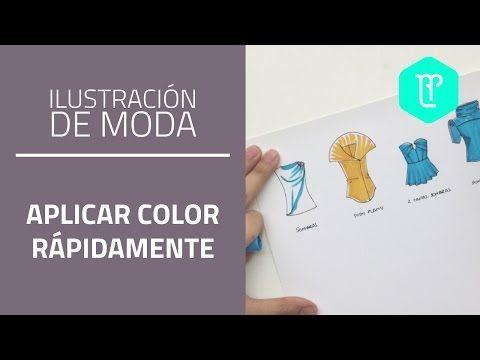 4 formas de colorear rápidamente tus bocetos de moda