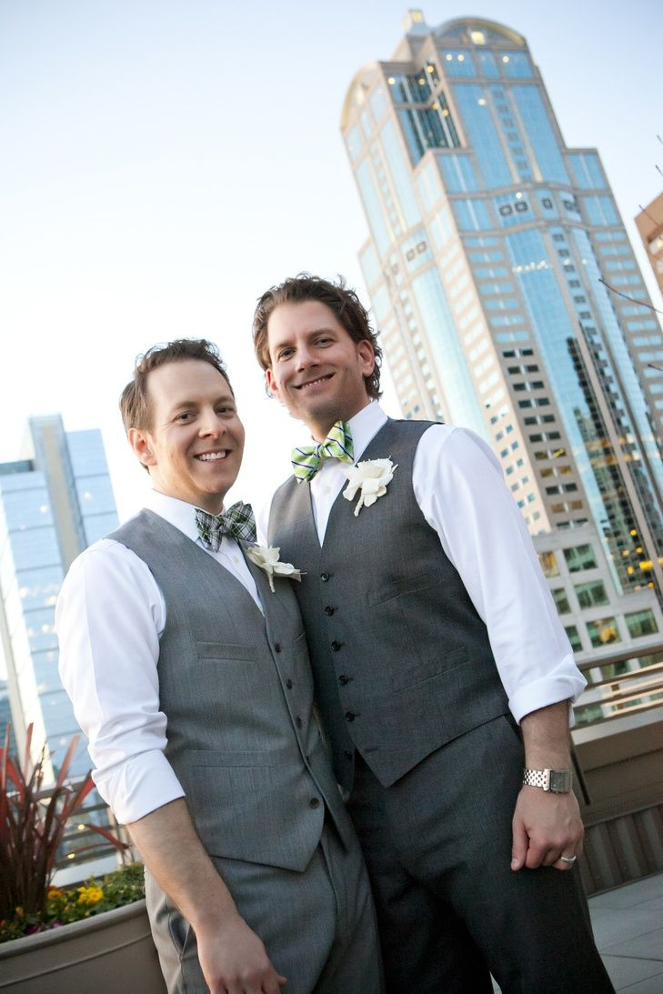 Matching Groom's Suits with Green Accents TASHA OWEN/PHOTOGRAPHER | http://knot.ly/6490BtQ2g | http://knot.ly/6491BtQ29