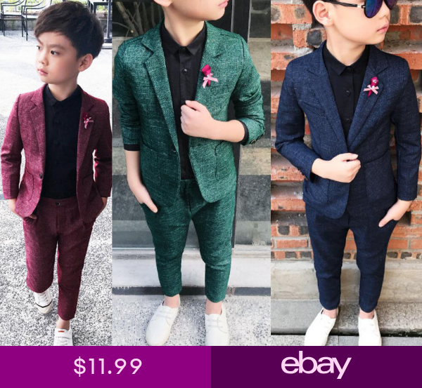 Page Boy Waistcoat Suits Formal Party Wedding Suits 3Pcs Baby Kids Boys Suits
