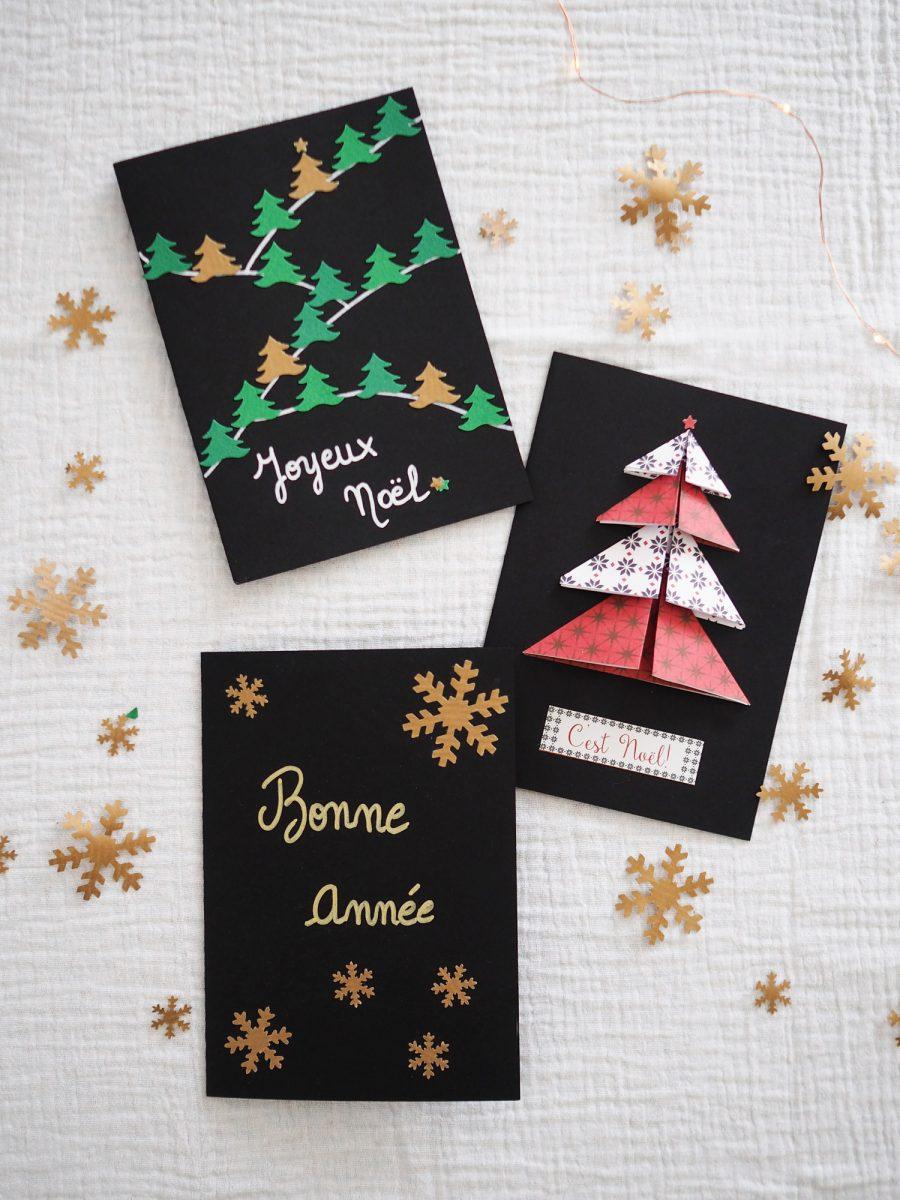 DIY – cartes de vœux de Noël fait main | Carte de voeux noel