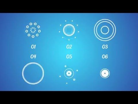After Effects Circle Elements Transitions Template - AeVideoTemplates.com
