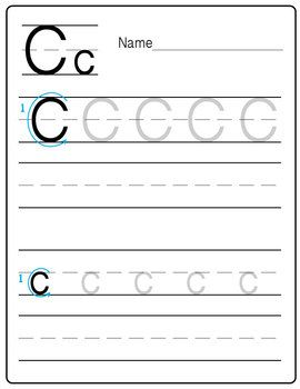 a freebie practice handwriting worksheet letter c messare clips and design handwriting. Black Bedroom Furniture Sets. Home Design Ideas