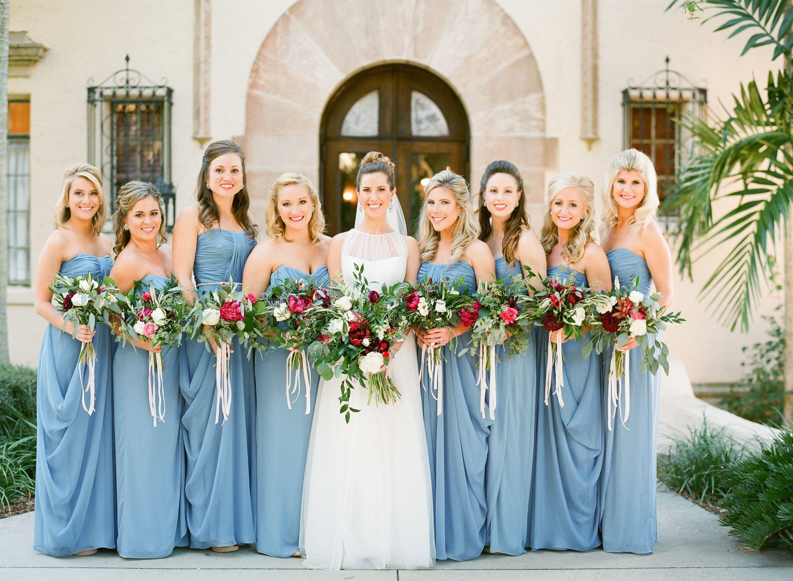 Red + French Blue Al Fresco Estate Wedding In 2019