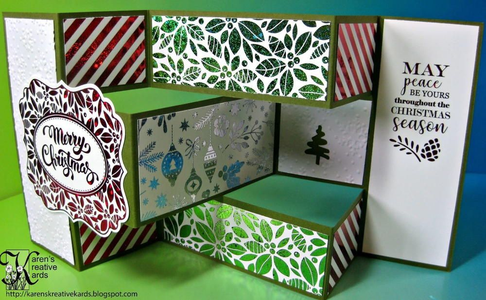 easy and elegant foiled tri shutter christmas card  buy