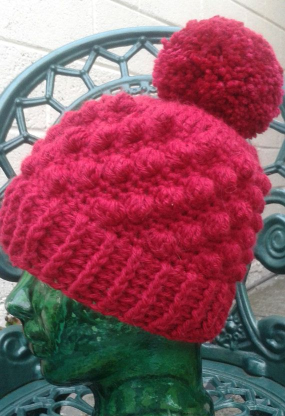 Crochet Pattern Crochet Hat Pattern Bobble Hat Crochet Pattern