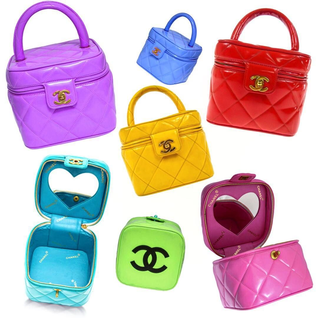 34611a4ba CHANEL Spring/Summer 1995 heart mirror vanity bags by Karl Lagerfeld ...