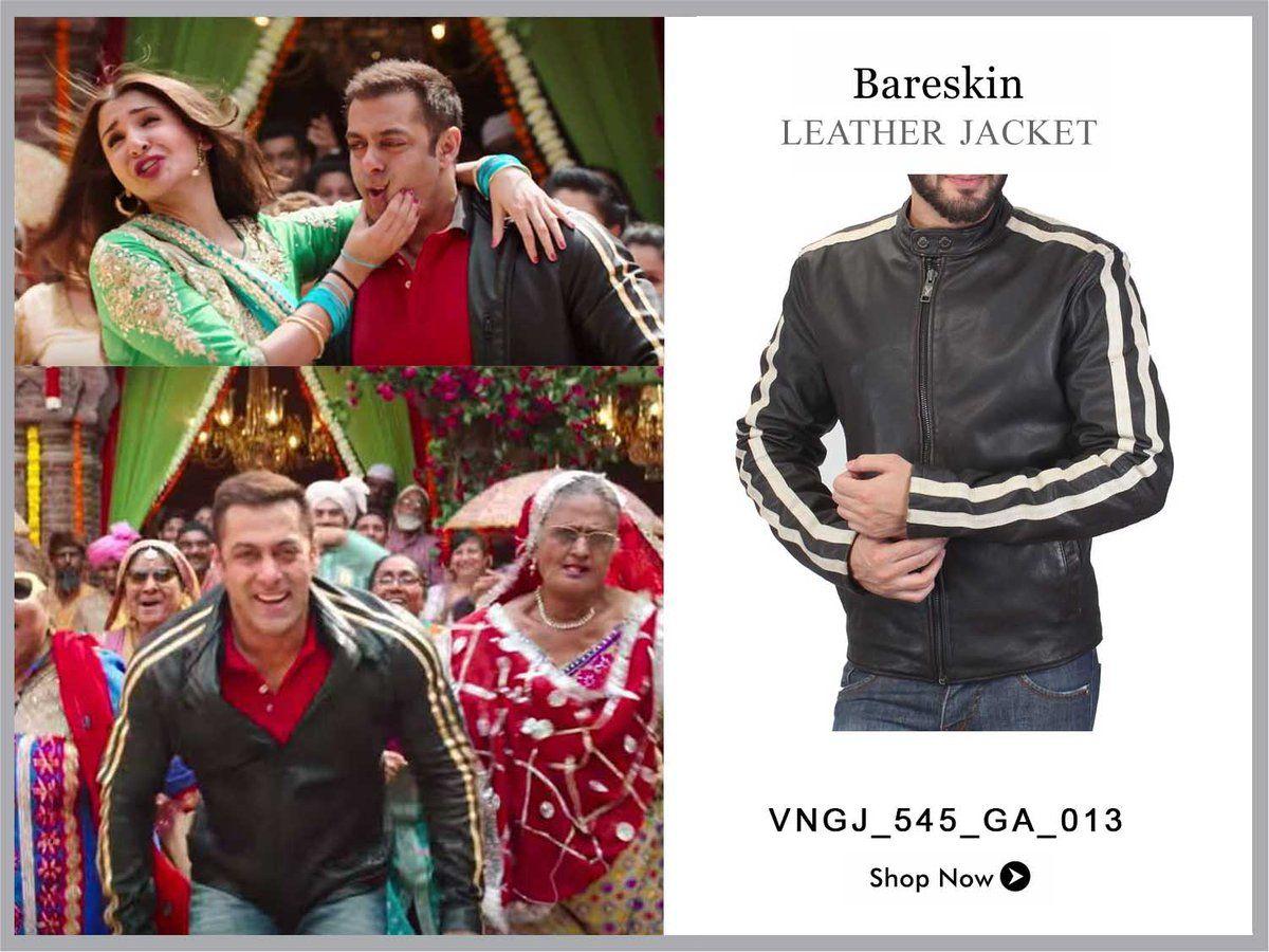 Salman Khan Wearing A Jacket By Bareskin In His Movie Voganowfashion Bareskinjackets Leather Jacket Shirt Designs Jackets