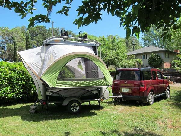 FREAKING AWESOME tent that folds down into a flatbed trailer that can tow bikes kayaks & FREAKING AWESOME tent that folds down into a flatbed trailer that ...