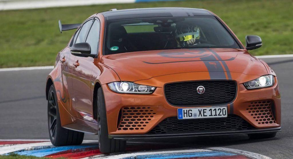592 Hp Jaguar Xe Sv Project 8 Feeds On Apexes Watch It Devour The Track In 2020 Jaguar Xe Jaguar Sports Sedan