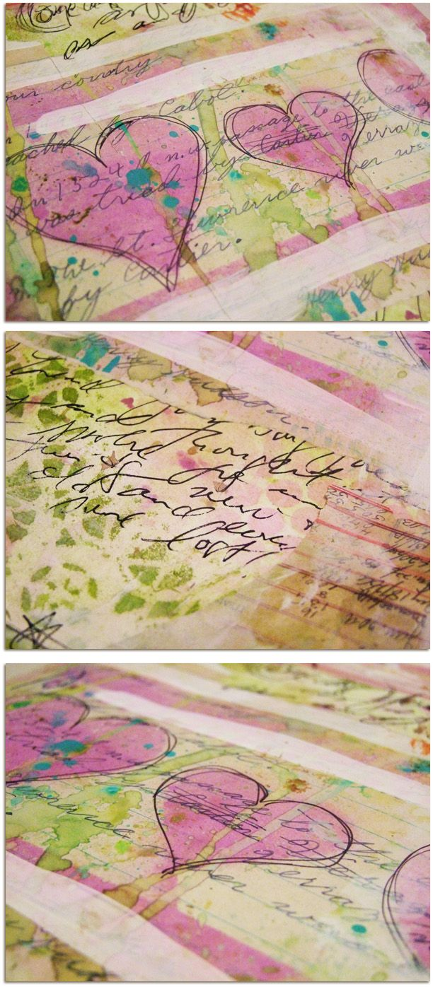awesome pastel watercolor hearts.... Roben Marie