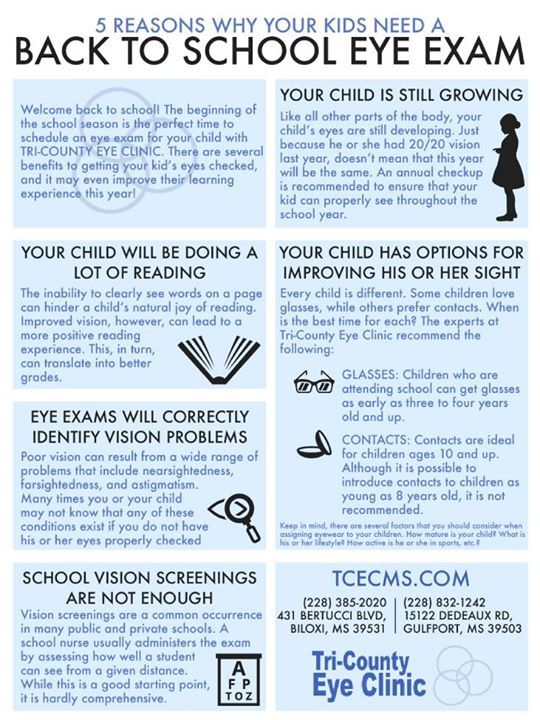 Have You Had Your Child S Eyes Examined Tricountyeye Vision