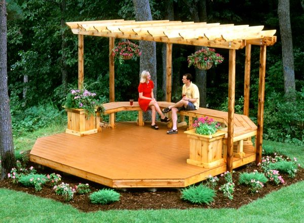 Octagonal floating deck google search decks for How much to build a floating deck